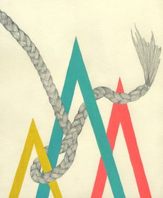 Lisa Congdon drawings, spring colors, lisacongdon, art, lisa congdon, braids, paintings, prints, graphic design posters