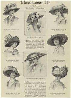 the delineator 1912 | marinni: Шляпки 1900-1912. Модные картинки ...