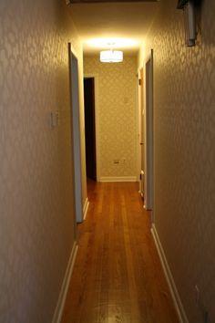 My stenciled hallway