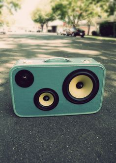 Portable Boom Box in a nice turquoise.