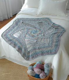 Spiral Crocheted Afghan  Lion Brand