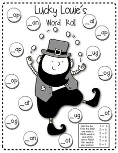 (sample page) ST. PATRICK'S DAY Learning Fun!! (Sight Words, Word Families and more!)