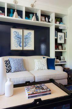 Love the dark blue: House of Turquoise: Rachel Reider Interiors + 76 Main