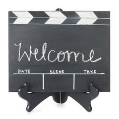 #Oscar #Party Clapper oscarparti, movie rooms, welcome signs, chalkboard paint, movie nights, oscar parti, oscar party, parti clapper, movie party