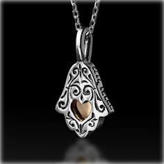 Kabbalah Jewelry - Ethnic Kabbalah Hamsa Pendant