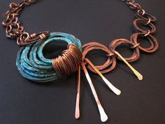 Patina Necklace  Sea Spray double chains design  by jamiespinello, $80.00
