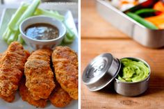 Paleo strips with dipping sauce- 9 Healthy Lunch Trends for Kids, From Paleo to Pocket Pasta - ParentMap