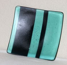 Teal sushi plate