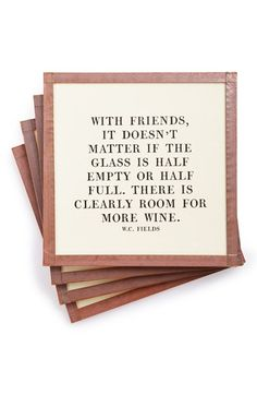 Ben's Garden 'With Friends It Doesn't Matter' Coaster Set (Set of 4) available at #Nordstrom
