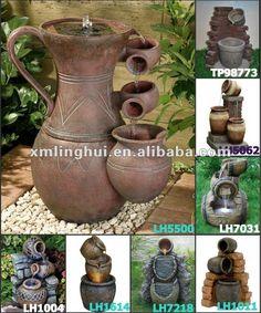 Detalle de la imagen de -La resina led jardín fuente de agua( ce/sgs/ul) - spanish.alibaba.com