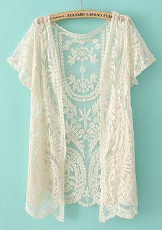 Crochet Net Lace Cardigan