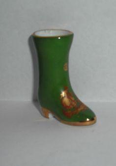 Vintage Limoges France Porcelain Min Boot Shoe
