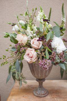 Greens + Blush Floral Arrangement