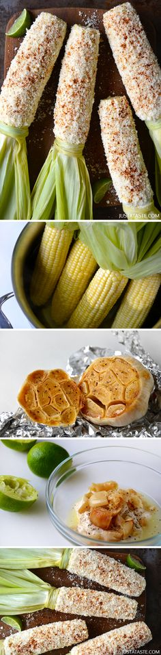 Cheesy Roasted Garlic Corn on the Cob - This is by far the BEST corn I have ever eaten! You've got to try it~GF Cheryl~