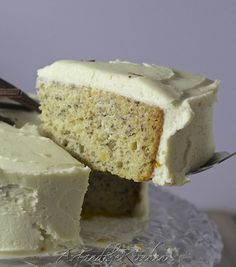 Incredibly moist Banana Cake- my all time favourite recipe for banana cake with cream cheese frosting chees frost, frostings, cakes, food, bananas, recip, moist banana, banana cake, cream cheese frosting
