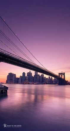 Brooklyn Bridge at sunset, New York / 2010 by Road to the moon - Travel Photograph, via 500px