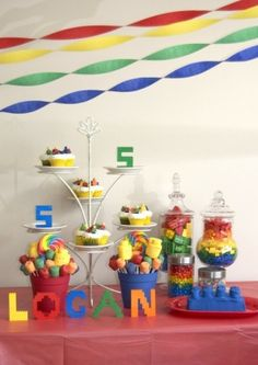 Lego party- Treat table