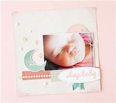 Use The First Few Years cartridge to create this soft, sleeping baby page!