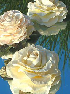 ~~ Vintage Shabby Roses ~~ Handmade Cold Porcelain Flowers https://www.facebook.com/www.myshabbypaperroses.nl?ref=hl&ref_type=bookmark
