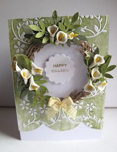 Beautiful Easter Cricut Card beauti easter, craft, easter cricut, easter card, cricut card, picture frames, flower, cards, spring card