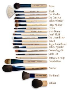 jane iredale brushes - Love these brushes. Going on 7yrs. with my original set. If you take care of them, they last forever. Great applications time after time.