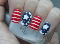 American Flag Nails.