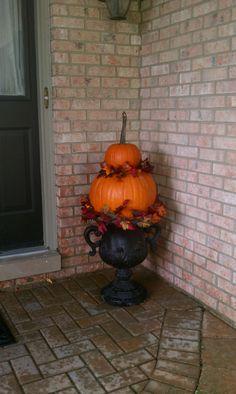 PUMPKIN TOPIARY pumpkin topiari, diy topiari