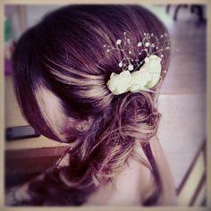 Loren's vintage inspired bridesmaid hairstyle.