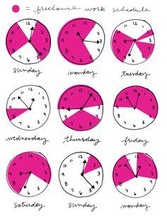 freelance schedule