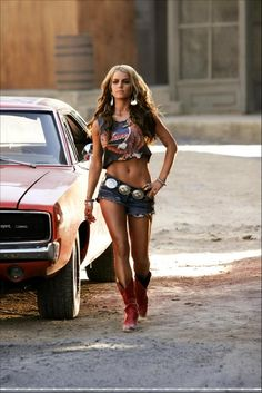 Of course everyone's body is different and you should work out mainly to be healthy, but if I could get daisy duke J.Sim tight and toned...I'd be into it