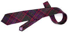 Sovereign Beck Purple Plaid Wool Necktie