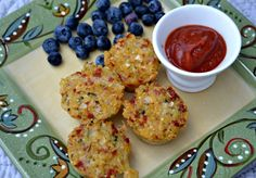 Quinoa Pizza Bites | OAMC from Once A Month Mom
