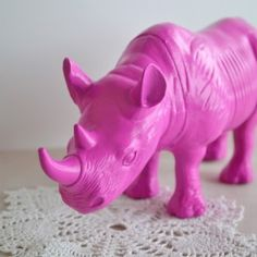 Pink painted rhino