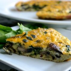 ... Frittata Town with this Spinach, Roasted Garlic, and Mushroom Frittata
