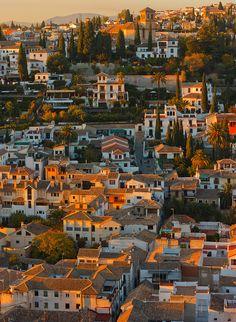 Granada (Andalucía) - Panorama of Old City, Granada
