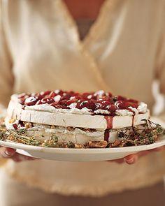 Brie and Walnut Cake.