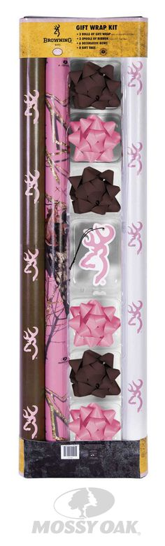 Wrap your gifts in the things that you love. Check out this great Browning & Mossy Oak Wrapping Paper set.