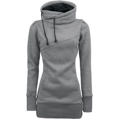 The ultimate hoodie:long length, long sleeves, and covers the neck! So cute :)