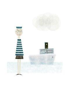 ⚓ #Lobster #anchor #navy #sailor #marinheiro #lagosta #âncora  ⚓ #poster #weLoveDesign #mermaid #sereia #ancre #sea #ocean #mar #oceano #boats #nautical #Illustration #Marinero #Ahoy #boat #shark Blanca Gomez