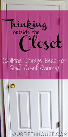 "small closet organization ideas - I wish my *biggest* closet was as ""small"" as hers! ;) Still, this is some awesome inspiration."