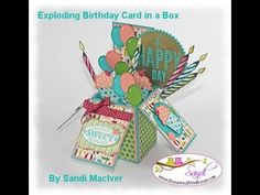 Stampin' Up! Tutorial: Card in a Box Video #1 by Sandi MacIver @ Stamping with Sandi