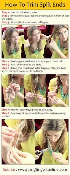 How To Trim Split Ends | PinTutorials