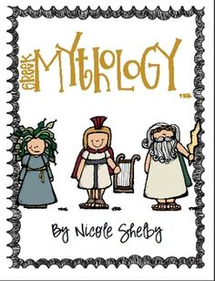 ADORABLE....Greek Mythology unit based on ELA Common Core Standards for 4th grade, but could be used for grades 3rd-6th.