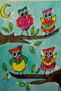 owls in tree