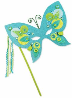 Crafter's Café Butterfly Mask - love the idea