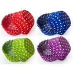 Polka Dot Cupcake Liners, MINI Size Baking Cups BULK - 500 Liners (9 Colors Available!)