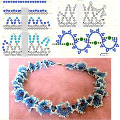 """Biserok Scheme weave necklace - is basically the same as the blue """"ogala"""" necklace pinned earlier. #seed #bead #schema"""