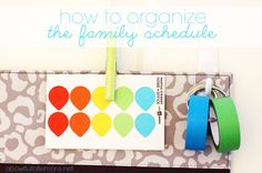 How to Organize your Family schedule - A Bowl Full of Lemons