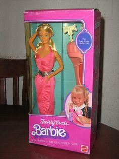 Twirly Curls Barbie 1982