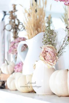 FRENCH COUNTRY COTTAGE: Autumn on the Mantel